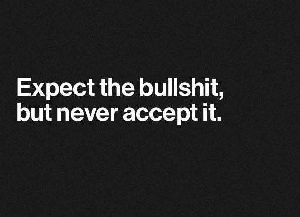 Expect the BS