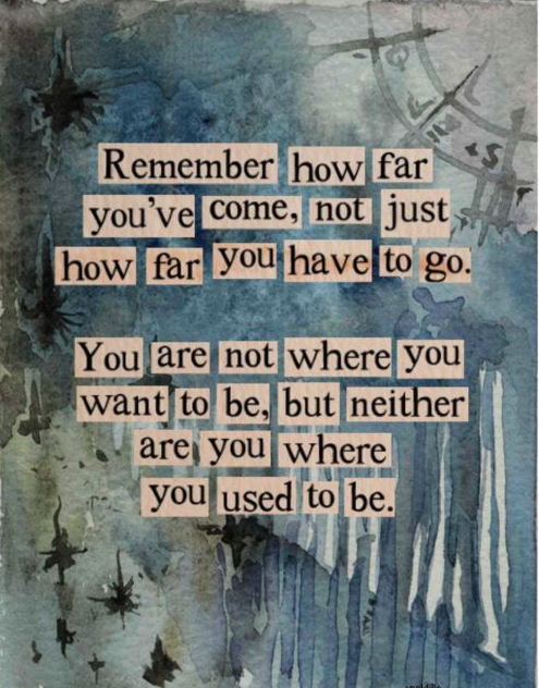 recognize where you've been